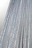 Lurex Fadenvorhang Silber 140x250cm Tür Fenster Gardine Insektenschutz Sichtschutz Vorhang