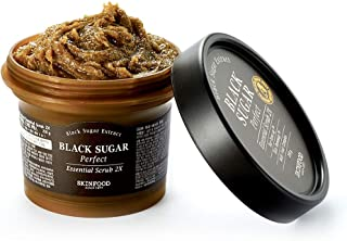 SKIN FOOD Black Sugar Perfect Essential Scrub 2X 7.4 fl.oz. (210g) - Facial Exfoliating Massage Scrub without Irritation, Removes Blackheads and Dead Skin Cells for Rough Skin, Skin Smooth and Clear