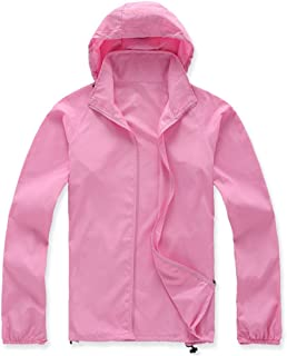 Lanbaosi Women's Lightweight Jacket Uv Protect+Quick Dry Windproof Skin Coat X-Small Pink