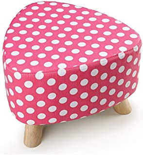 Small Stool Stools Shoe Stool Sofa Stool Solid Wood Small Three-Legged Stool Removable Change Shoe Stool (Color : Pink, Size : 393928CM)