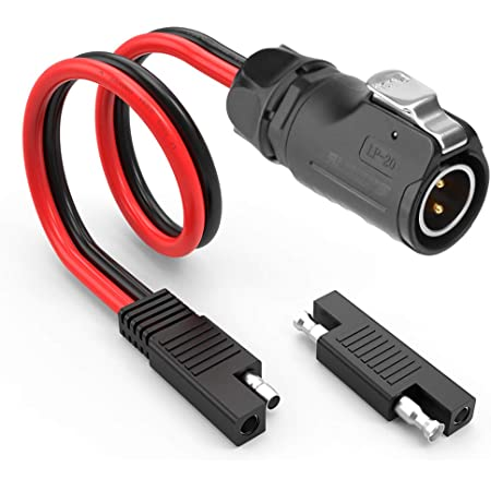 LINGYU-10AWG Wire and Cable Connector for RV Solar Panels with 1 SAE to SAE Polarity Reverse Connector MC4 to SAE Adapter