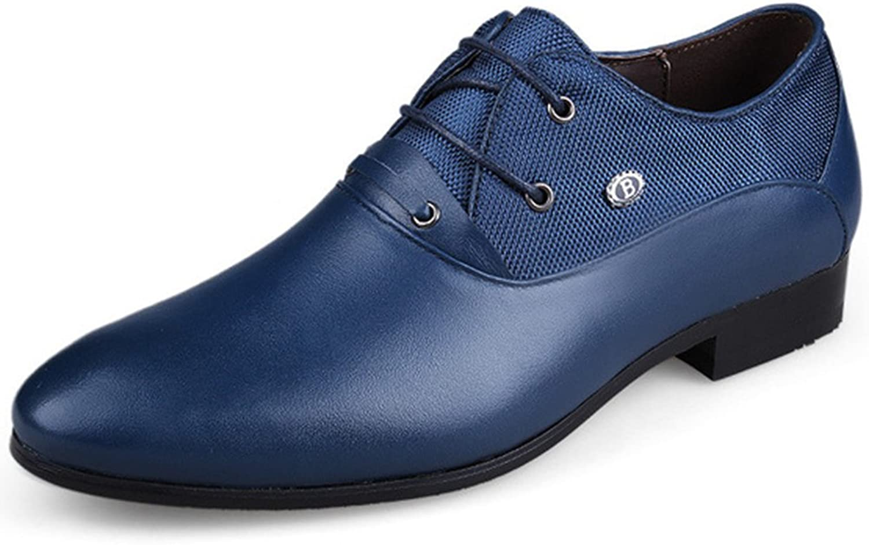 REETENE Men's Lace Up Oxford Business Office Wedding Dress shoes for Men