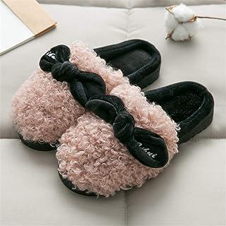 DRASAWEE(JP) スリッパ レディース ルームシューズ 部屋履き ふわふわ 靴 冬の保温スリッパ 蝶結び 可愛い 女の子 滑り止め 暖か 厚底