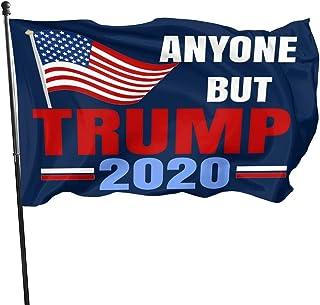 BADAWO Anyone But Trump 2020 President Flags- President Donald Trump 2020 Flag Vivid Color and Uv Fade Resistant 3x5 Feet Outdoor Flags Garden Flags