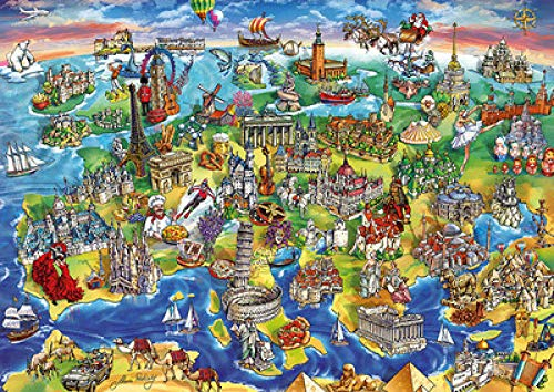 Yzqxiongtu Europa kaart puzzel speelgoed 1000 stukjes, houten entertainment puzzel, puzzels voor volwassenen educatieve spellen voor kinderen