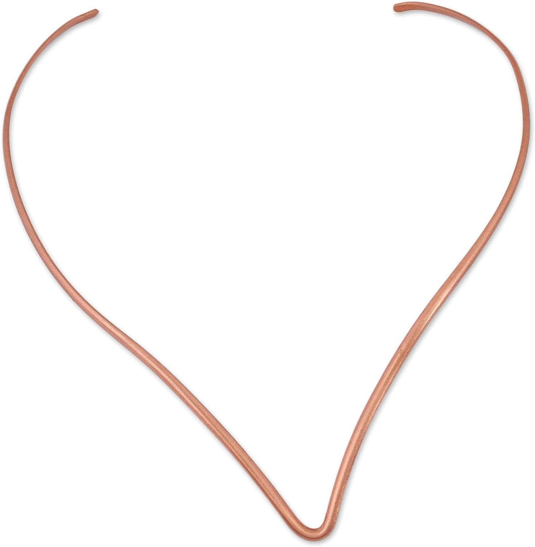 NOVICA Elegant Point Copper Collar Necklace for Girls Womens