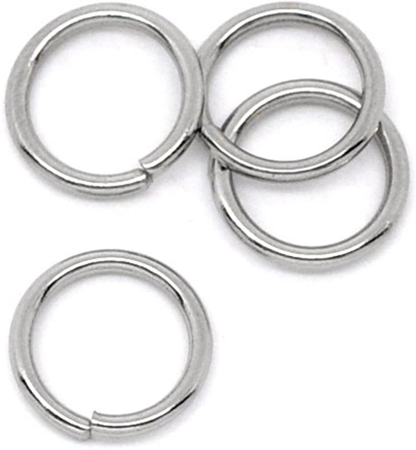 VALYRIA 100-Piece 70% OFF Outlet 8mm Stainless Steel Open 18 Jump Rings Don't miss the campaign Finding