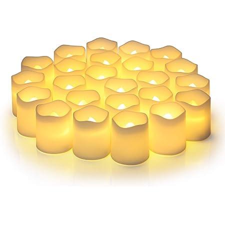キャンドルライト LEDキャンドル ろうそくろうそく 電池式バッテリー搭載 仏壇用 電気蝋燭 超リアルなLED Candle 省エネ・長持ち・飾り付け 誕生日 かざりつけ 便利 12個