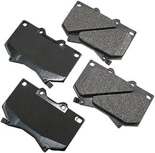 Akebono ACT812 Proact Ultra Premium Ceramic Disc Brake Pad kit , GREY