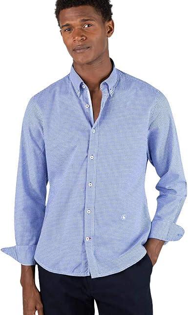 El Ganso - Colección AW19 - Camisa Azul Vichy Check - para Hombre - Manga Larga