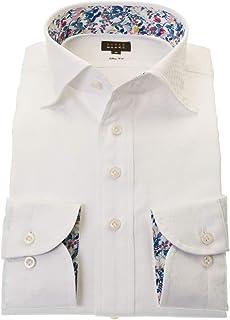 ワイシャツ メンズ STYLE WORKS スタイルワークス 綿 100% ホワイト ワイド 長袖 ドレスシャツ カッターシャツ シャツ 柄シャツ 派手シャツ|RWD113-002