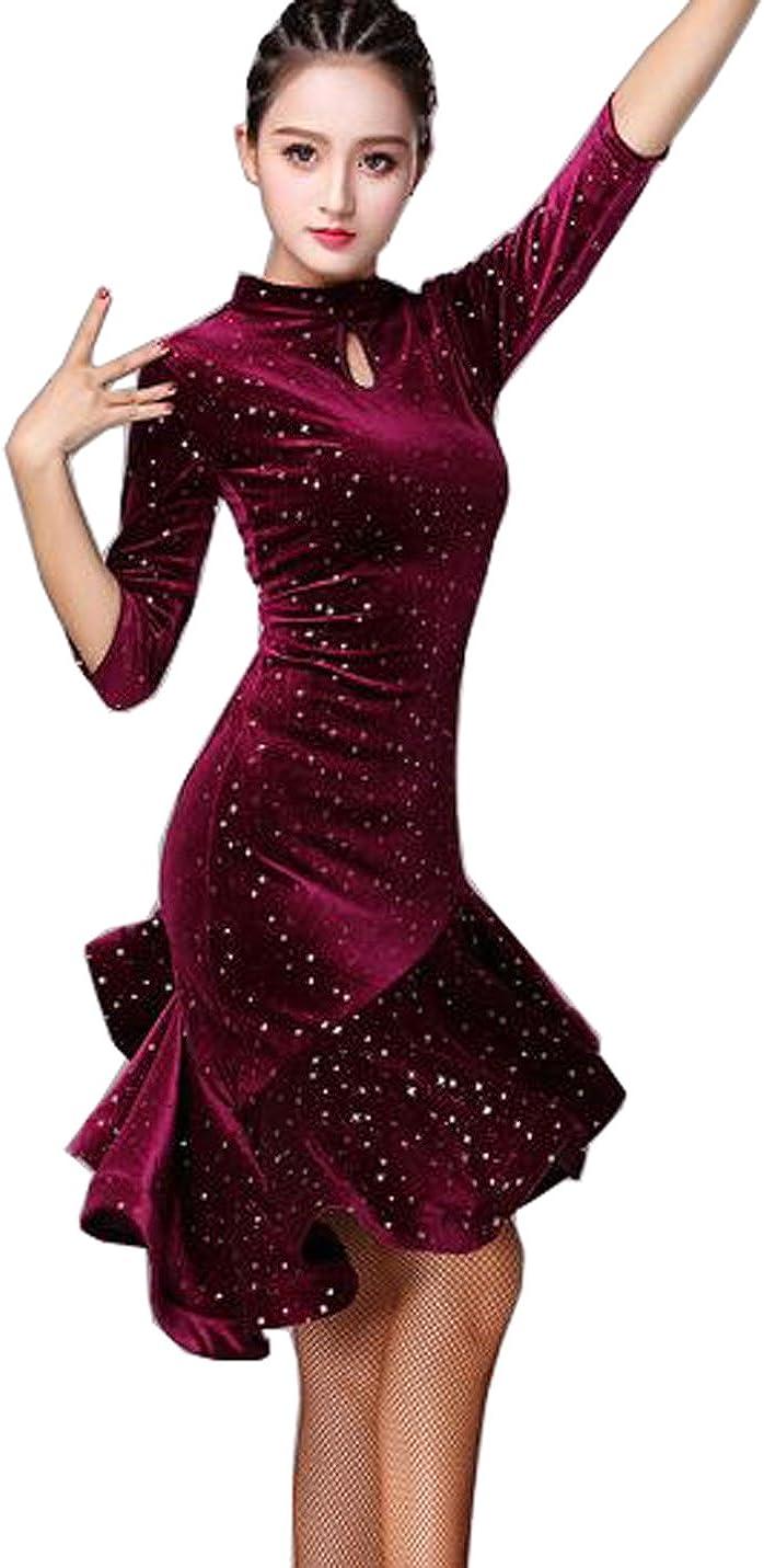 Latin Dance Dress Velvet Cheap bargain Waltz Rumba Ballroom Skirt Price reduction