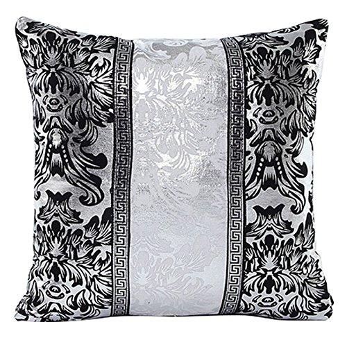 Kissenbezug Silber Splitter Floral Spleiß Dekor , 45cm x 45cm (#1)