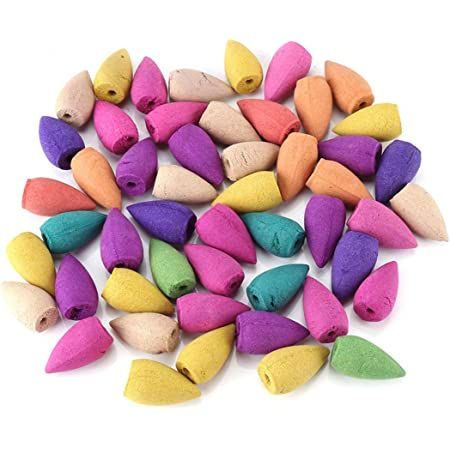 60Pcs Aromatherapy Natural Incense Cones Bullet Backflow Fragrant Bedroom Office