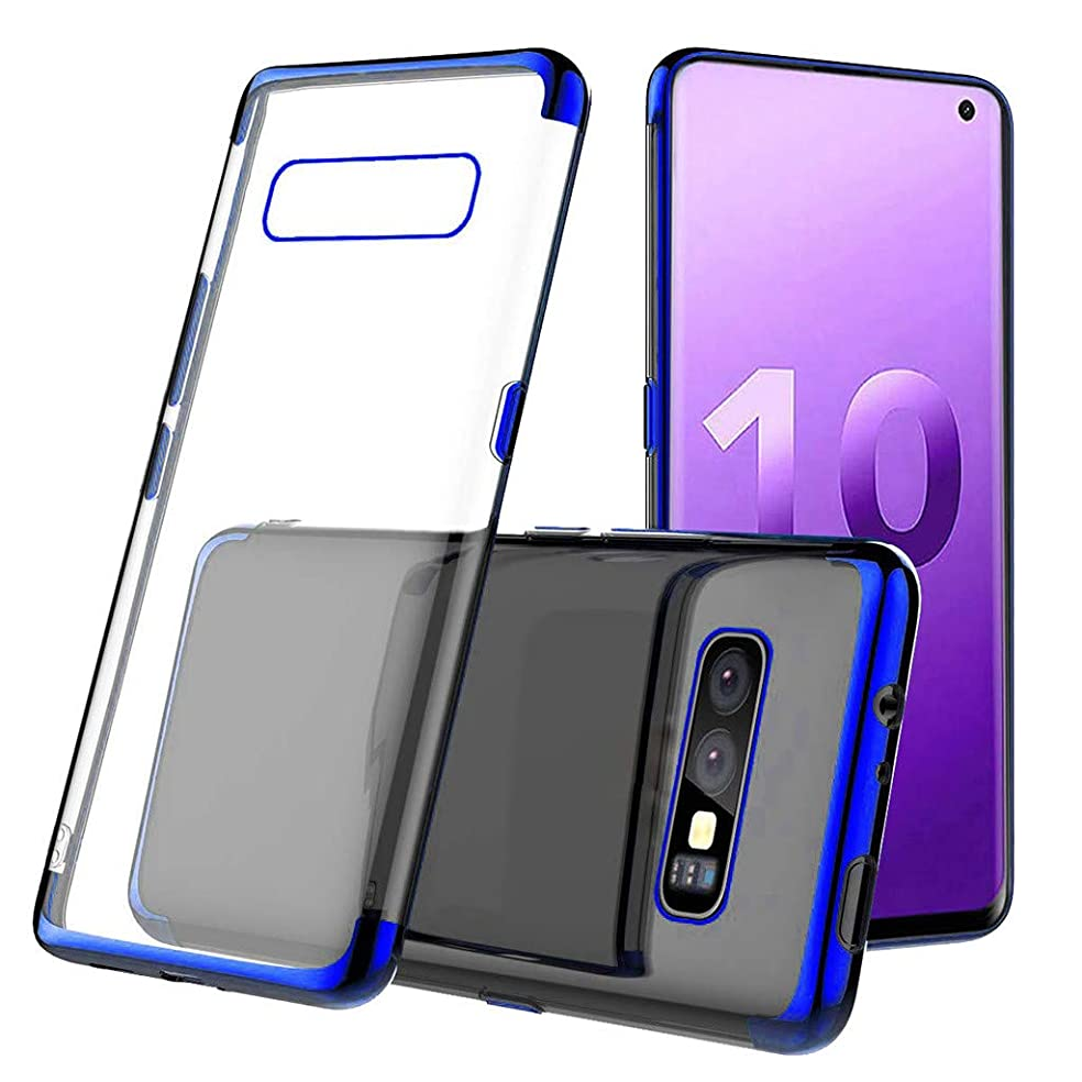 Bokoo Protect Case for Samsung Galaxy S10e 5.6inch Clear Case Shock-Proof Protective TPU Gel Cover (Blue)