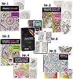 alles-meine.de GmbH 1 Stück _ A4 - großes Malbuch -  Colour Therapy - Feen & Elfen - Fabelwesen  - 64 Seiten - Tattoo Dot Style - Anti Streß - für Erwachsene & Kinder - Buch zu..