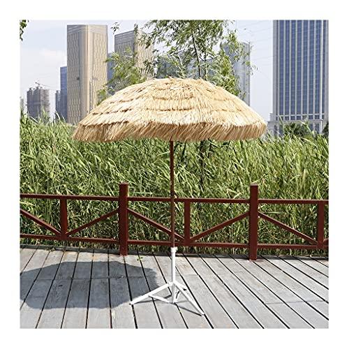 YRCWZF Ombrellone da Giardino in Paglia, 83in Inclinabile e Pieghevole Colore Naturale Hawaiano Hula Ombrellone da Spiaggia, Ombrellone Hawaiano