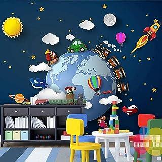 Accessoires de vie personnalisé 3D Photo dessin animé voiture univers étoilé planète bébé chambre enfants chambre décorati...