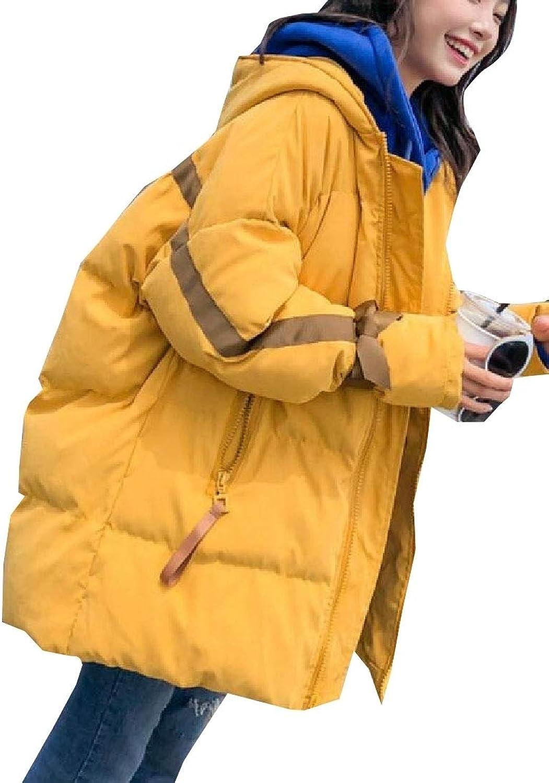 Maweisong Women's Puffer Down Hood Bread LongSleeves Winter Outwears