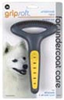 JW Pet Company GripSoft Double Row Undercoat Rake Dog Brush