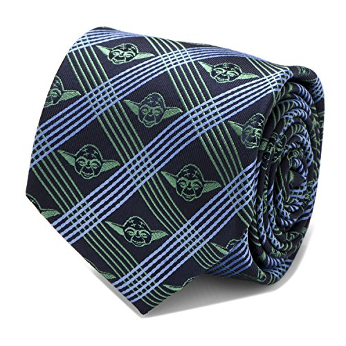 Yoda Navy Plaid Mens Tie