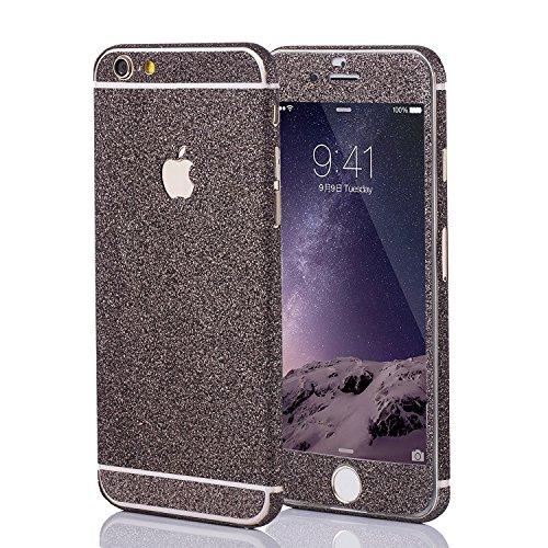 LAMINGO Glitzerfolie Glitter Skin Diamond Sticker Klebefolie für iPhone 6, 6s in Schwarz