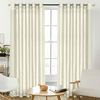 Light Reducing Curtains Pair Faux Silk Window Curtain Draperies for Living Dining Room | Dimming Light to The Room Privacy...