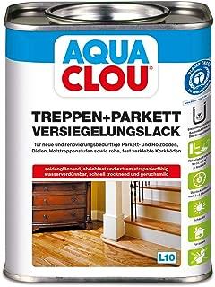 Aqua Clou Treppen- und Parkett Versiegelungslack 0,75L: Anwendung auf neuen Holzböden und im Rahmen der Renovierung für Dielen, Holz-Treppenstufen sowie Korkböden