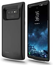 RUXELY Galaxy Note 9 Battery Case, 5000mAh Portable External Backup Charging Pack, Rechargeable Impact-Resistant Power Charger Case Compatible with Samsung Galaxy Note 9(Black)