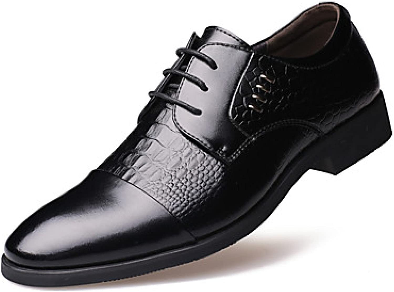 Men's Oxfords Spring Summer Fall Winter Comfort Leather Outdoor Office Career Casual Party Evening Flat Heel Rivet Black Yellow