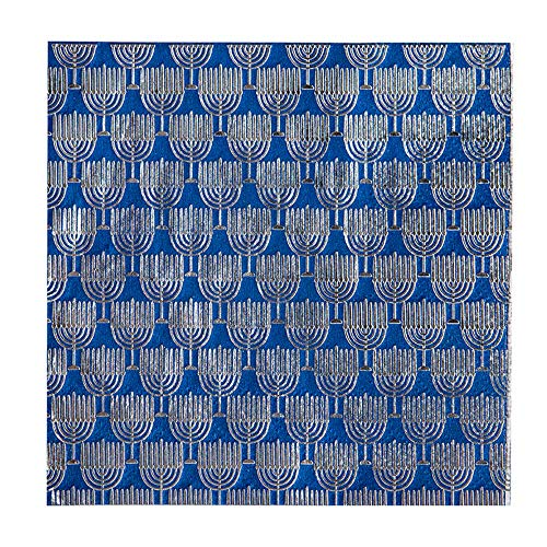 Jollity & Co Party Supplies | Menorah Cocktail Napkins | Great for Hanukkah, Judaica Decorations, Tablescapes, and Holiday Gatherings | Paper, 20 Pack