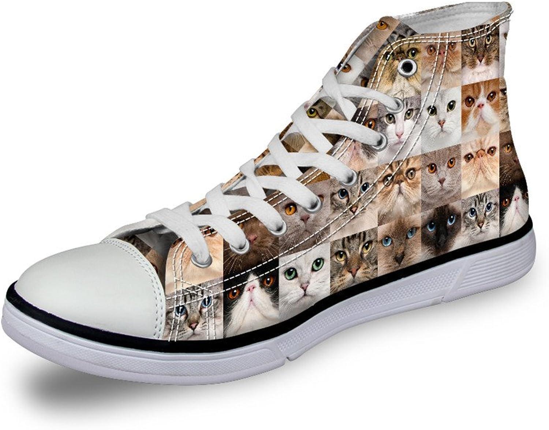 Nopersonality Modern Animals Prints Canvas Hi-top Comfy shoes Women
