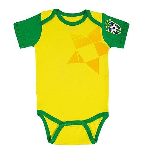 e619eacfa Postobon Brazil Funny Newborn Baby Soccer Bodysuit Onesies Yellow