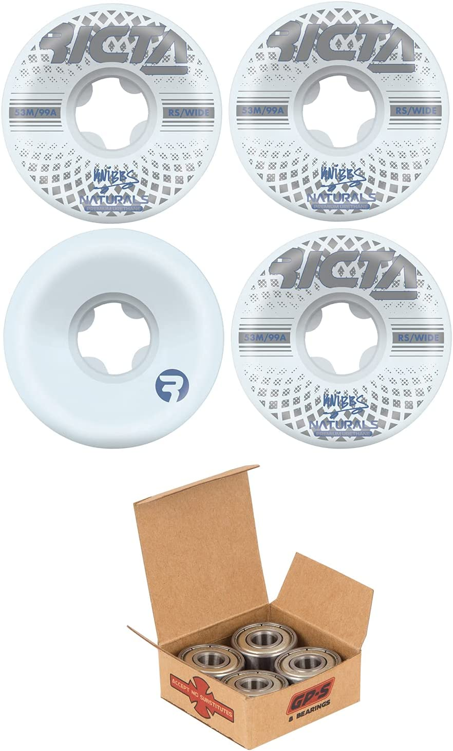 Ricta Skateboard Wheels 53mm Knibbs online shop Wide White Independ 99A with New mail order