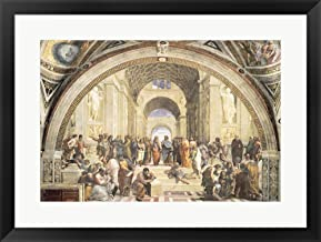 School of Athens by Raphael Framed Art Print Wall Picture, Black Frame, 28 x 21 inches