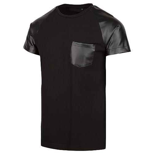 a1a9c5d2820 Level 9 Faux Leather PU T-Shirt (Large