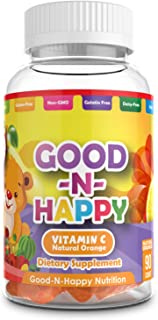 Immunity Vitamin C Gummies Chewable (Non-Gelatin) by Good & Happy Nutrition Using Natural Ingredients, Antioxidants, Non-G...