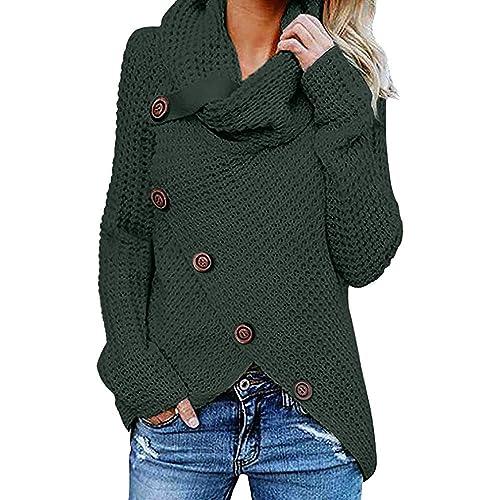 835e4d250325 Maglioni Dolcevita Donna Casual Manica Lunga Maglione- Manica Maglione  Vestito-Autunno Inverno Lungo Collo