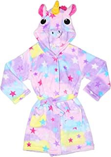 Innerest Basico Kids Beach Hooded Towel Poncho Wrap Bathrobe (B: Unicorn Star, Small)
