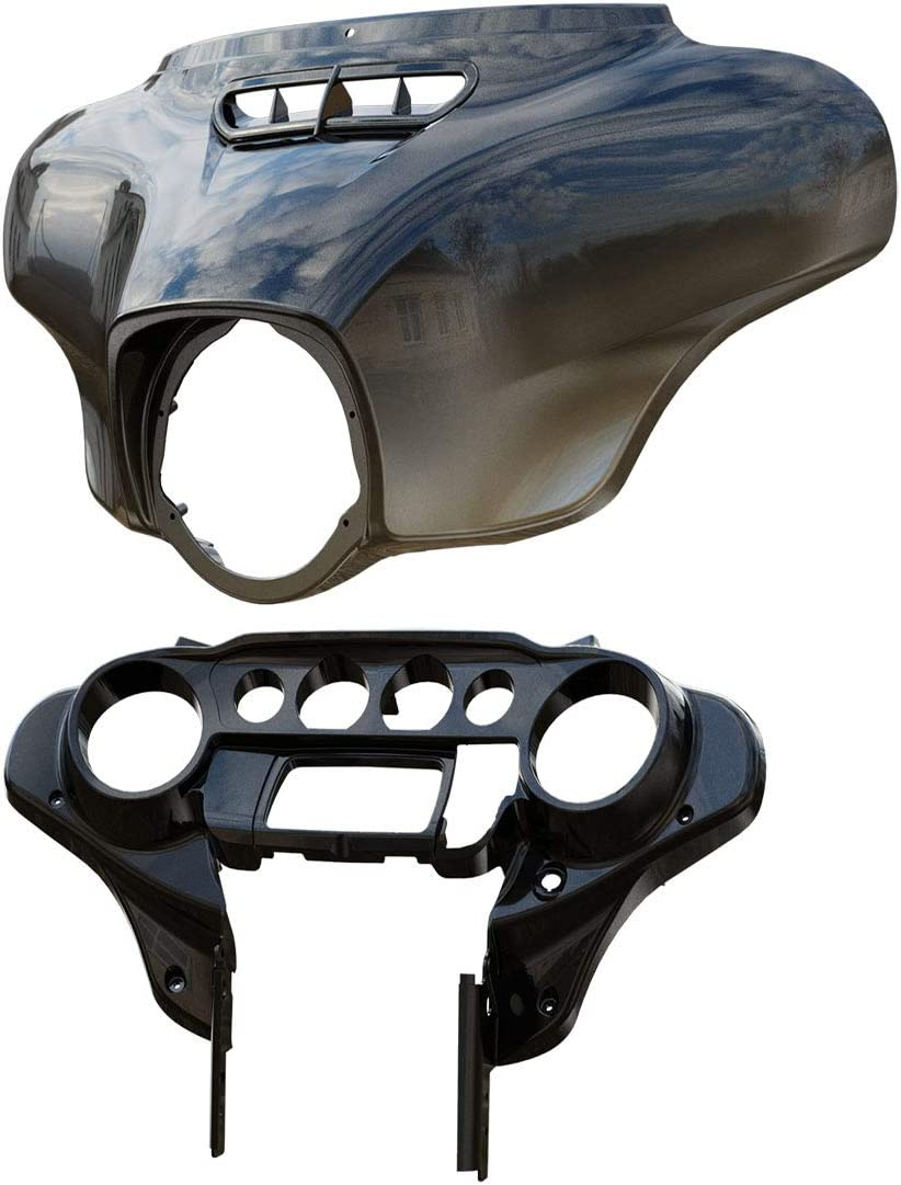 Industry No. 1 Ultra-Cheap Deals Black Earth Fade Inner Outer Batwing To Harley Fairing For Fit