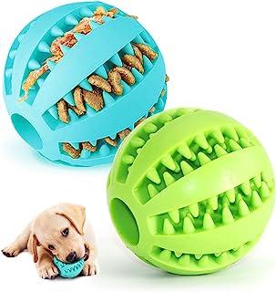 Pelota para Perros,Bola de Limpieza de Dientes Juguetes para Perros Mascotas Pelota de Goma Elástica,Bolas Juguetes Intera...