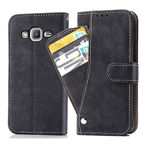 Galaxy G530/J2 Prime/Galaxy Grand Prime Wallet Case,Leather Phone Case with Credit Card Holder Slot Kickstand Stand Flip Folio Protective Cover for Samsung Galaxy Grand Prime G532 Women Black