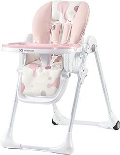Kinderkraft Hög barnstol YUMMY, barnmatstol, ergonomisk, bekväm, lutning, hopfällbar, med justerbar höjd, fotstöd, avtagba...