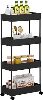 Panier Slim Storage Carte utilitaire de roulement 4 niveaux de rangement de rangement, glissade de rangement panier rangem...