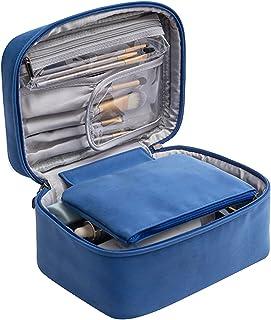 Make-uptas, draagbare make-uptas met grote capaciteit, modieuze draagbare PU-schapenvachtpatroon twee-in-een cosmetische t...