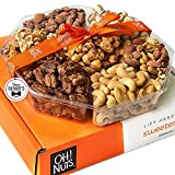 Oh! Nuts Holiday Gift Basket for Fathers Day, (1.8 LB) 7 Variety Roasted Nut Fresh Assortment Tray,...