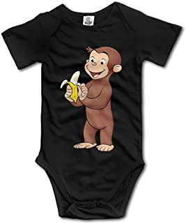 Newborn Clothes Curious George Eat Banana Vintage Funny Onesies