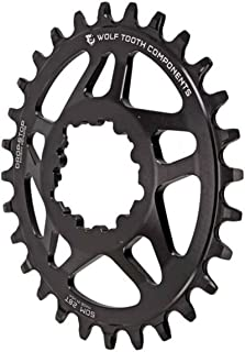 Wolf Tooth Direct-Mount Elliptical/Oval Drop-Stop Chainring for RaceFace and SRAM Cranks
