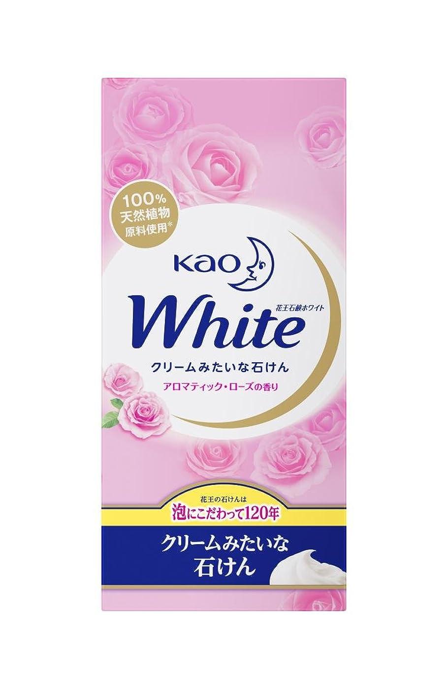 ではごきげんよう戦争顎花王ホワイト アロマティックローズの香り 普通サイズ 6コパック