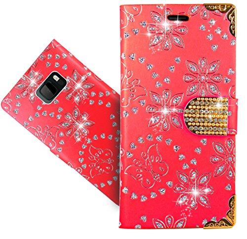 FoneExpert® HTC U Ultra Handy Tasche, Bling Luxus Diamant Wallet Hülle Flip Cover Hüllen Etui Hülle Ledertasche Lederhülle Schutzhülle Für HTC U Ultra